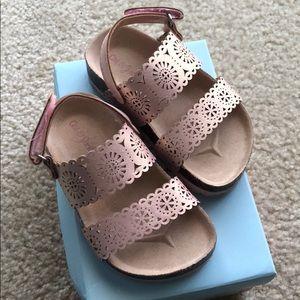 Cat & Jack Rose Gold/Pink Sandals Size 5